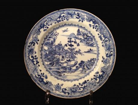 Paire d'assiettes en porcelaine de Chine