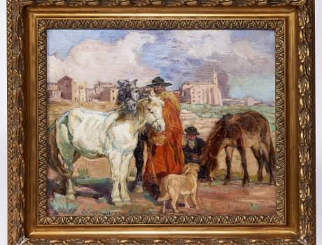 Huile Sur Toile signée Anna Morstadt 1916