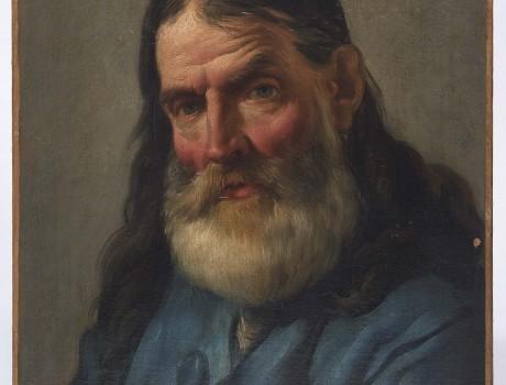 Huile Sur Toile: L'Homme à la Barbe par Noël Hallé