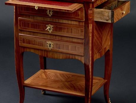 Petite table chiffonnière écritoire Louis XV
