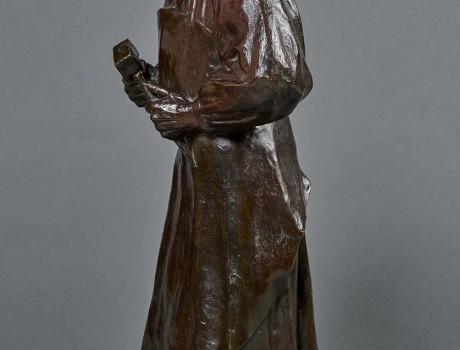 Exceptionnel Bronze: Claus Sluter, signé H.Bouchard
