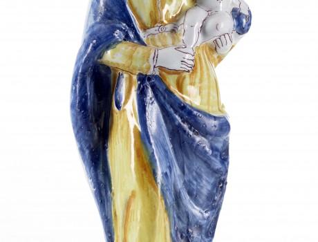 Vierge d'accouchée en faïence de Nevers XVIIIe